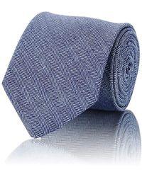 Petronius - Herringbone-weave Necktie - Lyst