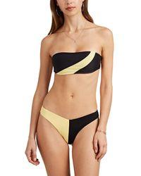 Onia Natalia Striped Bandeau Bikini Top - Yellow