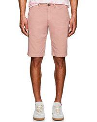 Barneys New York - Cotton Slim Shorts - Lyst