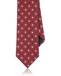 Barneys New York - Square-dot Silk Faille Necktie - Lyst