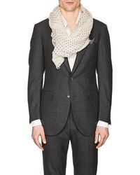 Drake's - Dotted Gauze Scarf - Lyst