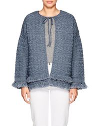 Current/Elliott - The Cable Fringe Sweater - Lyst