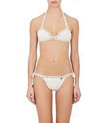 She Made Me - Jannah Cotton Bikini Top - Lyst