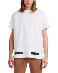 Off-White c/o Virgil Abloh - Logo-box Fine-gauge Slub Cotton T-shirt - Lyst