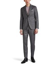 Piattelli - Esprit Glen Checked Wool Two-button Suit - Lyst