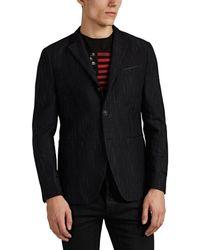 John Varvatos - Striped Cotton-wool Three-button Sportcoat - Lyst