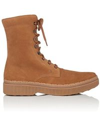 Tod's - Nubuck Lace-up Boots - Lyst