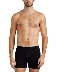 985bff9fc Lyst - Hanro Mens Silk Boxer Briefs in Black for Men