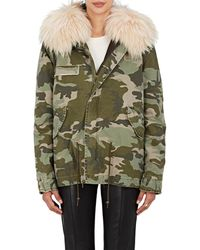 Mr & Mrs Italy | Fur-trimmed Camouflage Cotton Mini | Lyst
