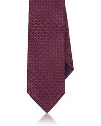 Barneys New York - Circle-print Silk Faille Necktie - Lyst