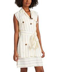 10 Crosby Derek Lam - Striped Silky Twill Utility Dress - Lyst