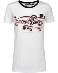 a6c044db98 Dolce & Gabbana Vote For D & G Women Motif T-shirt in Black - Lyst