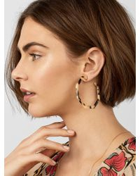 BaubleBar - Devri Resin Hoop Earrings - Lyst