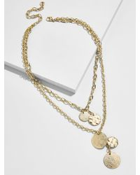 BaubleBar - Talia Layered Pendant Necklace - Lyst
