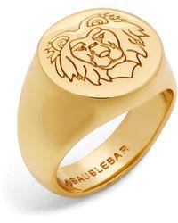 BaubleBar - Leo Lion Head Ring - Lyst