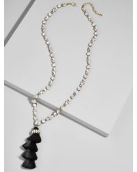 BaubleBar - Frosted Tassel Pendant Necklace - Lyst