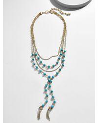 BaubleBar - Oralia Layered Y-chain Necklace - Lyst