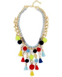BaubleBar - Tahiti Pom Pom Necklace - Lyst
