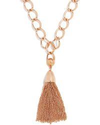BaubleBar - Chain-link Tassel Pendant Necklace - Lyst
