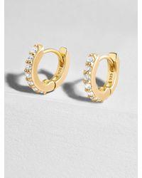 BaubleBar - Sirena 18k Gold Plated Huggie Hoops Earrings - Lyst
