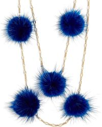 BaubleBar - Loulou Fur Pom Pom Necklace - Lyst