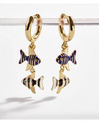 BaubleBar - Mali Huggie Hoop Earrings - Lyst