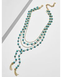 BaubleBar - Oralia Layered Y-chain Necklace - Lyst