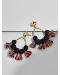 BaubleBar | Melina Pom Pom Earrings-black/rainbow | Lyst