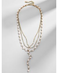 BaubleBar - Odelia Layered Y-chain Necklace - Lyst