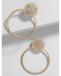 BaubleBar - Lutana Druzy Hoop Earrings - Lyst