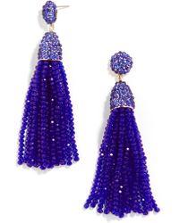 BaubleBar - Gem Piñata Tassel Drops-translucent Cobalt - Lyst