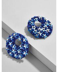 BaubleBar - Macaria Hoop Earrings-cobalt - Lyst