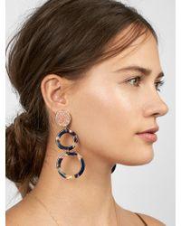 BaubleBar - Destine Resin Druzy Drop Earrings - Lyst