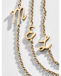 BaubleBar - Charmed Initial Necklace - Lyst