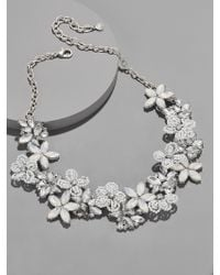 BaubleBar - Snowflower Statement Necklace - Lyst
