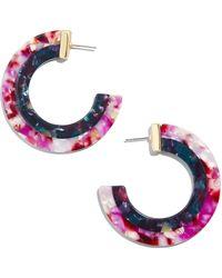 BaubleBar - Deisy Resin Hoop Earrings - Lyst