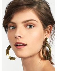 BaubleBar - Twiggy Sequin Hoop Earrings - Lyst