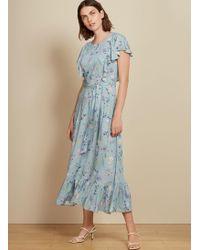 Baukjen - Kaia Ruffle Dress In Light Blue Meadow Floral - Lyst