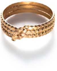 Baukjen - By Boe Knotted Scalloped Midi Ring - Lyst