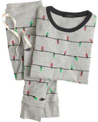 J.Crew Pajama Set in Holiday Lights - Lyst