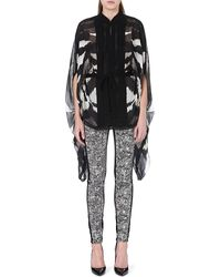 Roberto Cavalli Zebrapatterned Silk Top Black - Lyst
