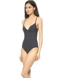 Tory Burch Milos One Piece Swimsuit Dot Mini Black - Lyst