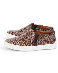 Rag & Bone Leather Tweed Kent Slip-On Sneakers - Lyst