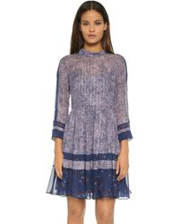 Rebecca Taylor - Static Print Silk Dress - Dewberry Combo - Lyst