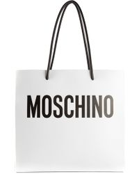 Moschino Logo Print Tote - Lyst