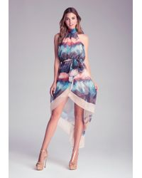 Bebe Hilo Print Dress - Lyst