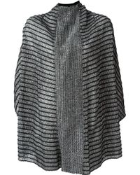Lost & Found - Striped Knit Reversible Jacket - Lyst