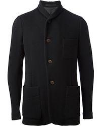 Giorgio Armani Waffle Knit Jacket - Lyst