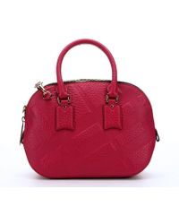 Burberry Fuchsia Leather Top Handle Bag - Lyst