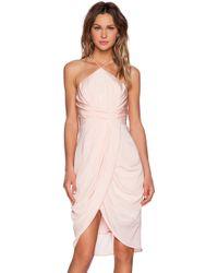 Zimmermann Pink Tuck Dress - Lyst